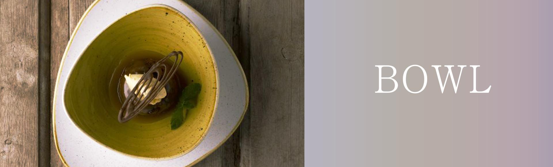 イギリスの食器ブランドStonecast。少し大き目サイズの、自然にインスピレーションを得たユニークな形や色のボウルがそろいます。