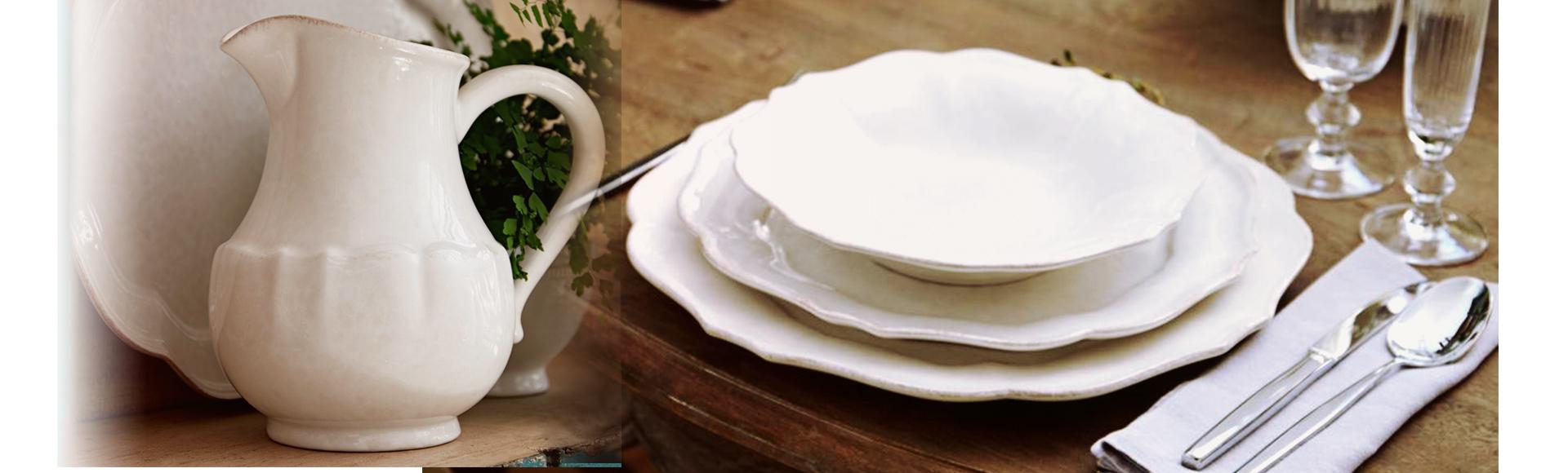 ポルトガルのテーブルウェアブランドCOSTANOVAの姉妹ブランドCasafina。記憶に残るなつかしい家庭の食卓の温かみのあるイメージを大切にしたブランドです