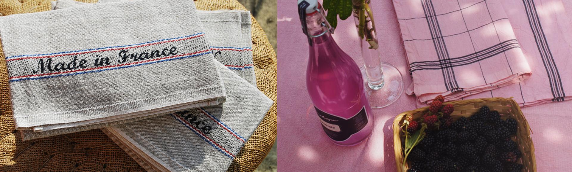 エプロンやプレイスマットなど、MADE IN FRANCEにこだわったフランスのシャルベ・エディションのテーブルリネン商品