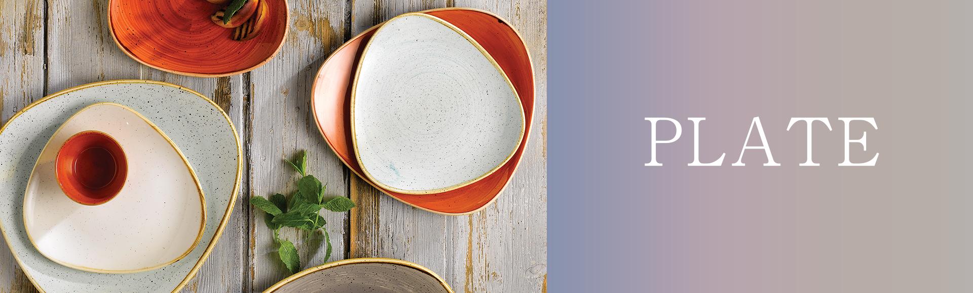 イギリスの食器ブランドStonecast。少し大き目サイズの、自然からインスピレーションを得たユニークな色・形の使いやすいプレートがそろいます