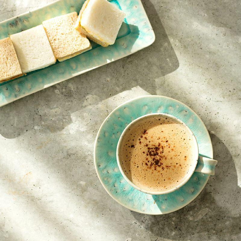 ポルトガルの食器 COSTA NOVAの 透明感が美しいマデイラシリーズ テーブルコーディネート例
