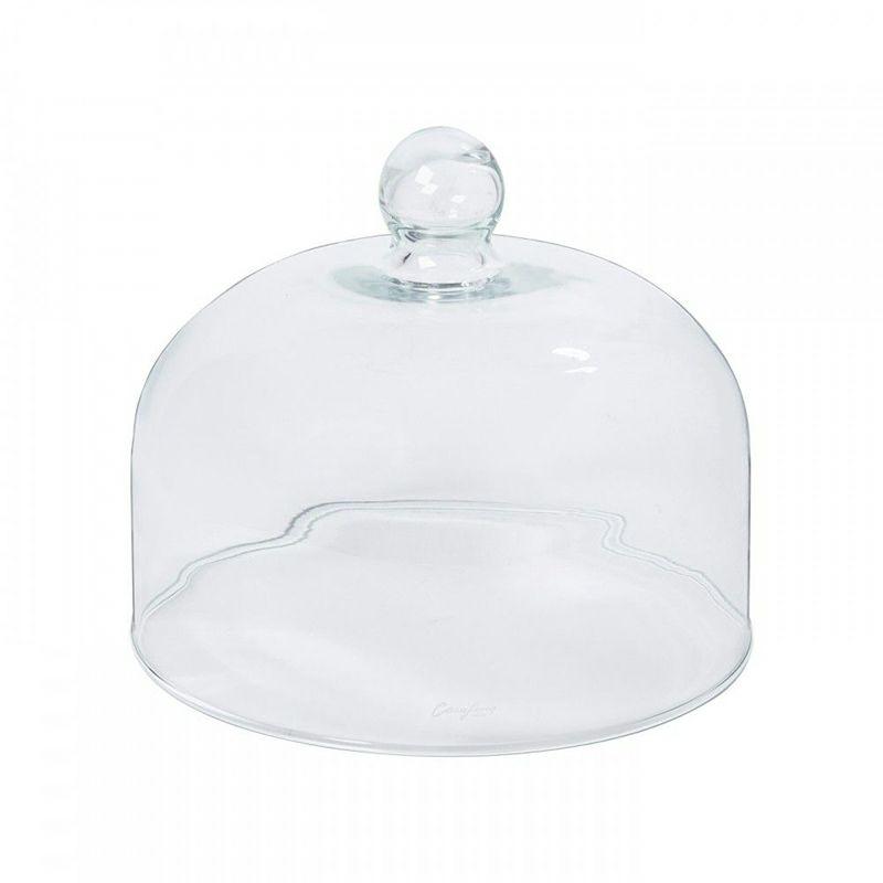 ケーキカバーや、食卓のアクセントに使えるグラスドーム。手吹きで、ぬくもりのある形